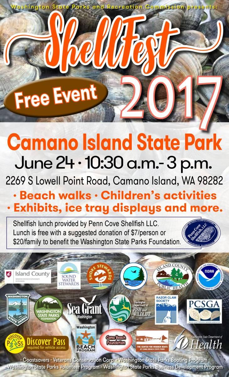 Shellfest 2017 Poster Camano Island Final